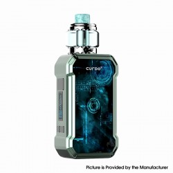 Authentic Curdo Hally 60W TC VW Variable Wattage Box Mod w/Sub Ohm Tank Kit - Deep Green, 3ml, 0.4ohm / 0.6ohm, 1~60W, 1 x 18650