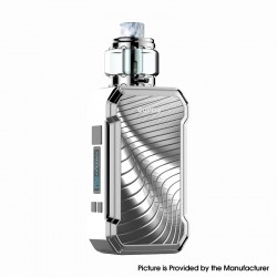 Authentic Curdo Hally 60W TC VW Variable Wattage Box Mod w/ Sub Ohm Tank Kit - Silver, 3ml, 0.4ohm / 0.6ohm, 1~60W, 1 x 18650