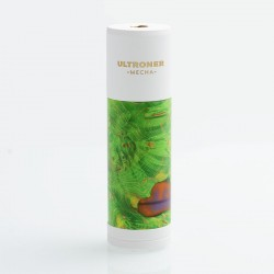 Authentic Ultroner DJV Meche Hybrid Mechanical Mod - Green White, Brass + Stabwood, 1 x 18650