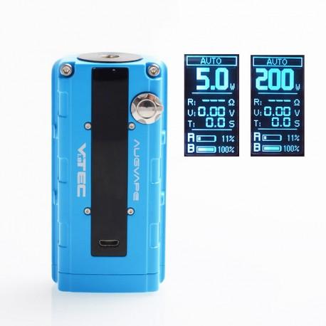 Authentic Augvape VTEC1.8 200W VV Variable Voltage Box Mod - Blue, Zinc Alloy, 2 x 18650, 5~200W