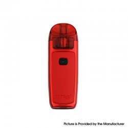 Authentic GTRS Triad Plus AIO 750mAh Pod System Starter Kit - Red Leather, Zinc Alloy + PCTG, 3ml, 0.6ohm / 1.0ohm