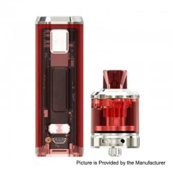 [Ships from HongKong 2] Authentic Wismec SINUOUS V80 80W TC VW Box Mod + Amor NSE Tank Kit - Red, 1~80W, 1 x 18650, 2ml / 3ml