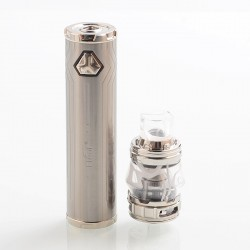 [Ships from HongKong 2] Authentic Eleaf iJust 21700 80W Mod + ELLO Duro Tank Kit - Silver, 1 x 18650 / 21700, 5.5ml, 0.2 Ohm