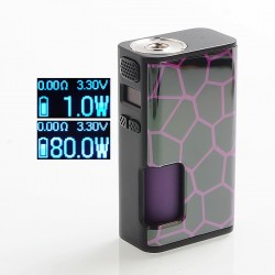 [Ships from HongKong 2] Authentic Wismec Luxotic Surface 80W TC VW Squonk Box Mod - Honeycomb, 1~80W, 6.5ml, 1 x 18650