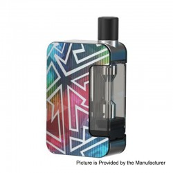 [Ships from HongKong 2] Authentic Joyetech Exceed Grip 1000mAh Pod System Starter Kit - Rainbow Tattoo, 4.5ml, 0.4 Ohm