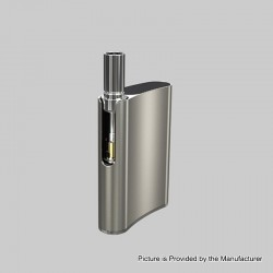 [Ships from HongKong 2] Authentic Eleaf iCare Flask 520mAh Battery Mod + 10mm Atomizer Kit - Silver, 1.0ohm, 1.0ml