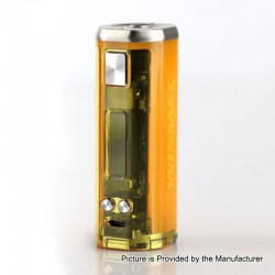 [Ships from HongKong 2] Authentic Wismec SINUOUS V80 80W TC VW Variable Wattage Box Mod - Yellow, 1~80W, 1 x 18650