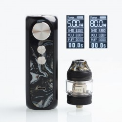 Authentic OBS Cube X 80W VW Box Mod + Tank Starter Kit - Ink, 4ml, 0.2ohm / 0.15ohm, 3.2~4.2V, 1 x 18650