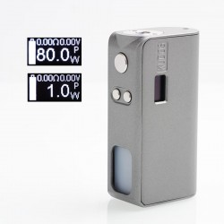 Authentic Hippovape Kudos 80W VW Variable Wattage Squonk Box Mod - Iron Grey, Zinc Alloy, 7ml, 1~80W, 1 x 18650