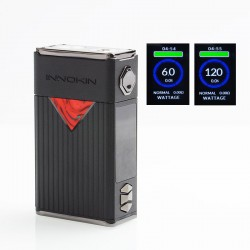 Authentic Innokin MVP5 120W 5200mAh TC VW Variable Wattage Box Mod - Black, Zinc Alloy, 6~120W