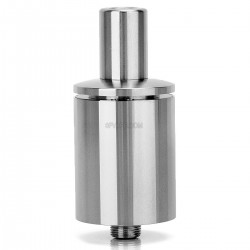 SXK SK RDA Rebuildable Dripping Atomizer - Silver, Stainless Steel, 22mm Diameter