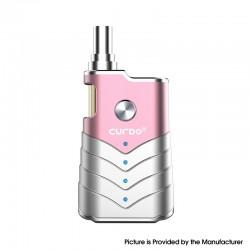 Authentic Curdo M-One 400mAh Box Mod w/ M-One Atomizer Starter Kit - Pink, Zinc Alloy + PC, 1~3ohm