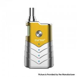 Authentic Curdo M-One 400mAh Box Mod w/ M-One Atomizer Starter Kit - Yellow, Zinc Alloy + PC, 1~3ohm