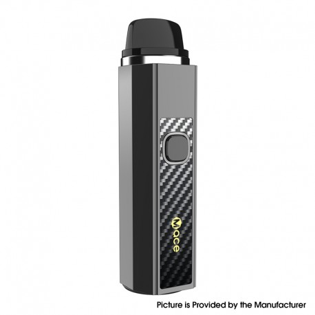 Authentic OneVape Mace55 1500mAh Pod System Starter Kit - Gunmetal CF, Aluminium Alloy + PCTG, 3.5ml, 0.3ohm / 0.6ohm