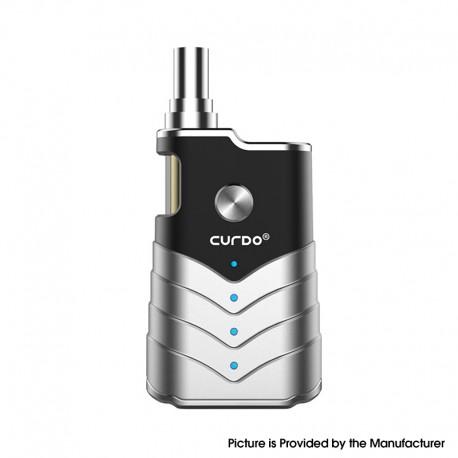 Authentic Curdo M-One 400mAh Box Mod w/ M-One Atomizer Starter Kit - Black, Zinc Alloy + PC, 1~3ohm