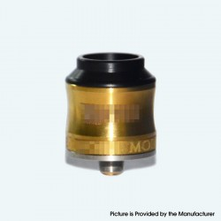 Vertex V1 Cursed Style RDA Rebuildable Dripping Atomizer w/ BF Pin - Gold, Stainless Steel, 24mm Diameter