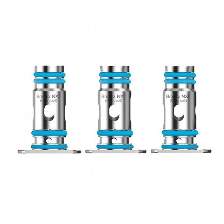 Authentic Aspire Breeze NXT Pod System Replacemnt Single Mesh Coil Head - Silver, 0.8ohm (15~20W) (3 PCS)