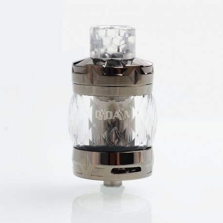 Authentic Aspire Odan Sub Ohm Tank Vape Atomizer- Smoky Quartz, Stainless Steel + Pyrex Glass, 5ml / 7ml, 28mm Diameter