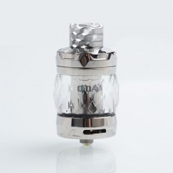 Authentic Aspire Odan Sub Ohm Tank Vape Atomizer - Stainless Steel, SS + Pyrex Glass, 5ml / 7ml, 28mm Diameter
