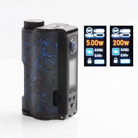 Authentic DOVPO Topside Dual Carbon 200W YIHI Chip TC VW Squonk Box Mod - Carbon Blue, Aluminum Alloy, 5~200W, 2 x 18650