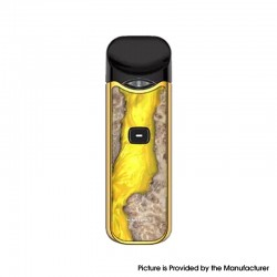 Authentic SMOKTech SMOK Nord 1100mAh Pod System Starter Kit - Yellow Stabilizing Wood, 0.6ohm / 1.4ohm, 3ml
