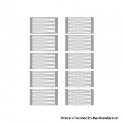 Authentic Vandy Vape Mesh V2 RDA Replacement Ni80 M Coil Mesh Sheet - Silver, 0.15ohm (55~70W) (10 PCS)