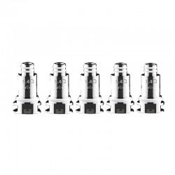 Authentic DOVPO Peaks Pod System Replacement MTL Ceramic Coil Head - Silver, 1.4ohm (5 PCS)