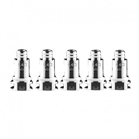 Authentic DOVPO Peaks Pod System Replacement MTL Ceramic Coil Head - Silver, 1.4ohm (5 PCS)