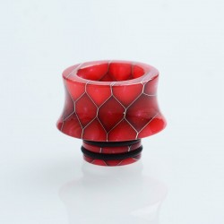 SL284 510 Repalcement Drip Tip for RDA / RTA / RDTA / Sub-Ohm Tank Atomizer - Red, Resin, 13mm