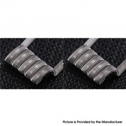 Authentic Goforvape Ni80 Staggered Framed Staple Wire Pre-built Coil - 28GA x 2 + (0.1 x 0.4) x 6 + 38GA, 0.25ohm (2 PCS)