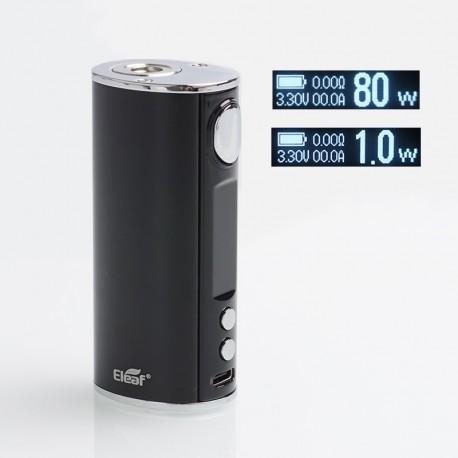 Authentic Eleaf iStick T80 80W 3000mAh VW Variable Wattage Battery Box Mod - Black, Aluminum Alloy, 1~80W