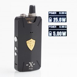 Authentic THC Thunderhead Creations Tauren X 25W 1000mAh RBA Pod System VW Box Mod Kit - Gun Metal, Aluminium Alloy, 2ml, 5~25W