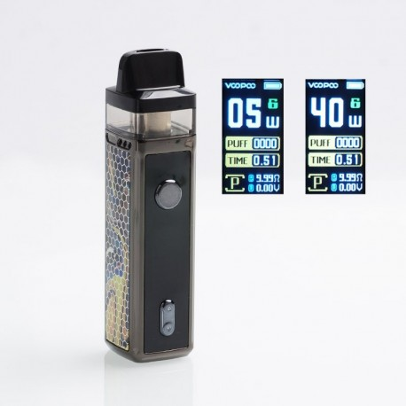 [Ships from HongKong] Authentic VOOPOO VINCI 40W 1500mAh VW Mod Pod System Starter Kit - Hill Yellow, 5~40W, 5.5ml (Standard)