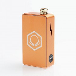 Authentic Ohm Vape AIO 42W Box Mod Pod System Starter Kit - Gold, 1 x 18650