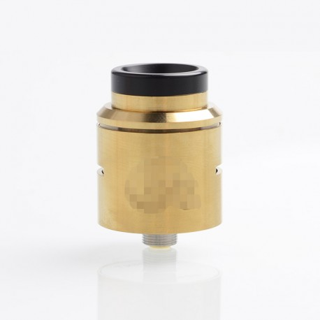 C2MNT V2 Style RDA Rebuildable Dripping Atomizer w/ BF Pin - Gold, Stainless Steel, 24mm Diameter