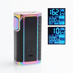 Authentic IJOY Captain 1865 162W TC VW Variable Wattage Box Mod - Mirror Rainbow, 2 x 18650