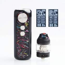 Authentic OBS Cube X 80W VW Box Mod + Tank Starter Kit - Rainbow Candy, 4ml, 0.2ohm / 0.15ohm, 3.2~4.2V, 1 x 18650