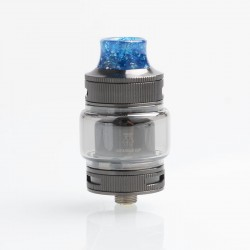 Authentic Goforvape Double UP RTA Rebuildable Tank Atomzier - Gunmetal, Stainless Steel + Glass, 2ml, 23mm Diameter