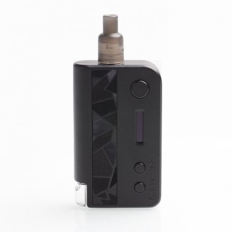 Authentic Vsticking VKsma 25W 1400mAh YiHi Chip Auto Mode TC Mod Kit w/ SMA ADA Dripping Atomizer - Suede Black, 3ml