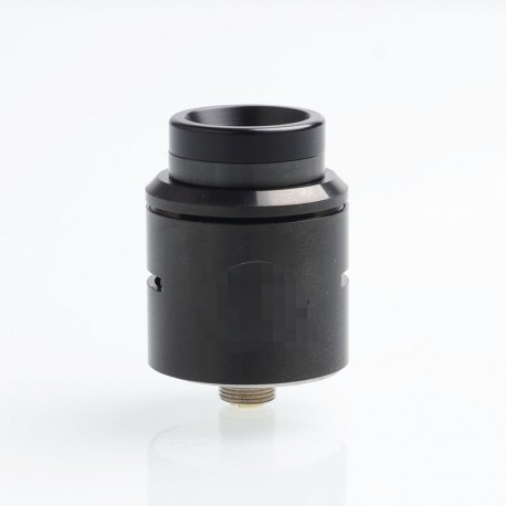 C2MNT COSMONAUT V2 Style RDA Rebuildable Dripping Atomizer w/ BF Pin - Black, Stainless Steel, 24mm Diameter