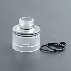SXK Monarch R Style RDTA Replacement Drip Tip + Tube + Top Cap - Translucent, PC