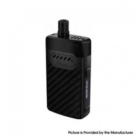 Authentic Hellvape GRIMM 30W 1200mAh VW Box Mod Pod System Starter Kit - Black Carbon Fiber, 3ml, 0.7ohm / 1.2ohm, 5~30W