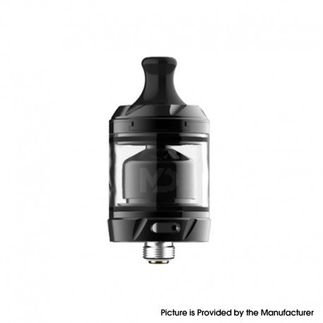 Authentic Hellvape MD MTL RTA Rebuildable Tank Atomizer - Black, Stainless Steel + Pyrex Glass, 2ml / 4ml, 24mm Diameter