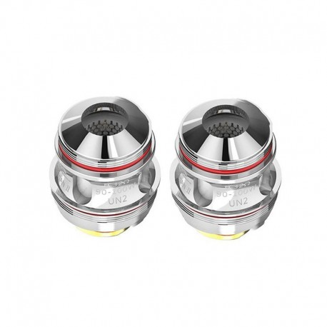 Authentic Uwell Valyrian 2 II UN2 Single Meshed Coil Head - Silver, Stainless Steel, 0.32ohm (90~100W) (2 PCS)