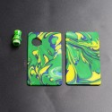 Authentic Ohm Vape AIO Pod Kit Replacement Front Panel + Back Panel + Drip Tip - Yellow + Green + Blue, Resin