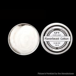 Authentic Goforvape Flavorbeast Organic Cotton for RBA / RDA / RTA / RDTA Atomizer - White, 0.36 Oz (10g)