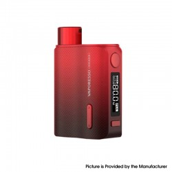 Authentic Vaporesso SWAG II 2 80W Variable Wattage Box Mod - Red, 5~80W, 0.03~5.0ohm, 1 x 18650