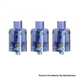 Authentic Sikary Vapor OG Disposable Sub Ohm Tank Clearomizer - Blue, 3ml, 0.15ohm, 24mm Diameter (3 PCS)