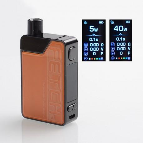 Authentic SMOKTech SMOK Fetch Mini 40W 1200mAh VW Box Mod Pod System Starter Kit - Orange, PCTG + Glass, 3.7ml, 5~40W