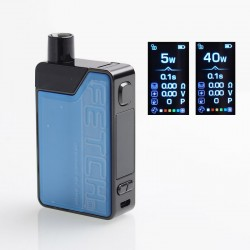 Authentic SMOKTech SMOK Fetch Mini 40W 1200mAh VW Box Mod Pod System Starter Kit - Blue, PCTG + Glass, 3.7ml, 5~40W